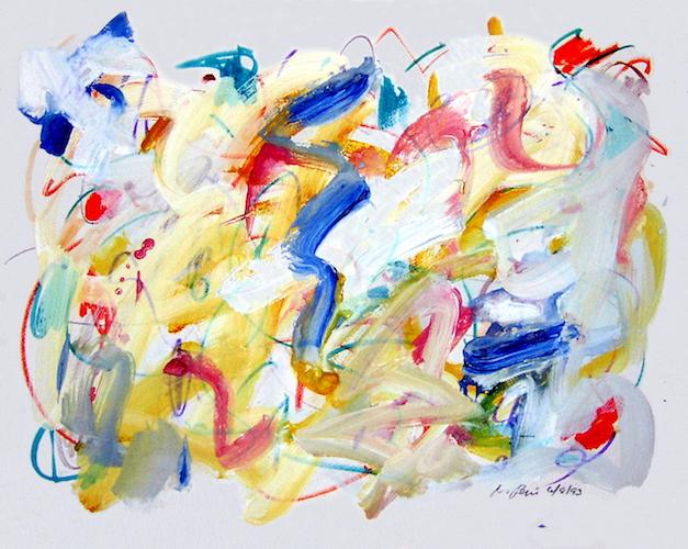 """Vincent Pepi, """"1227,"""" 1993, Mixed media, 18″ x 24″"""
