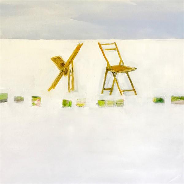 Beach Chairs, 2018, Oil on Canvas, 24_ x 24_ (1)